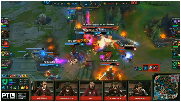 Fnatic vs. Unicorns of Love Teamfight